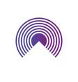 geometric symbol of purple gradient rings sound vector image