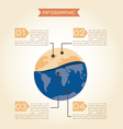 Global warming concept infographics vector image