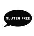 gluten free rubber stamp vector image vector image