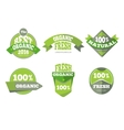 Green organic natural labels set vector image vector image