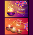 happy diwali 2018 festival of lights poster vector image vector image