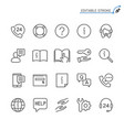 help and support line icons editable stroke vector image