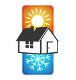 home circulation hot and cold vector image vector image