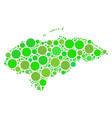 honduras map collage of circles vector image