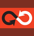 infinity symbol with pointing directional arrows vector image