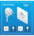 Isometric Switches and sockets set Type F vector image vector image