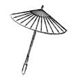 japanese umbrella isolated icon vector image