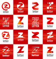 large set of logo letter Z vector image vector image