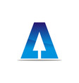 letter a with arrow up vector image