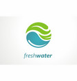 logo design ideas for fresh water vector image vector image