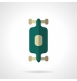Longboard flat color design icon vector image vector image