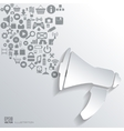loudspeaker icon flat abstract background