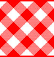 lumberjack plaid pattern in red and white vector image