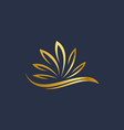 luxury abstract lotus vector image