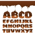 Melting Chocolate Alphabet Cookies Collection vector image