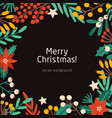 merry christmas social media banner vector image