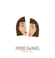 mood swing icon vector image