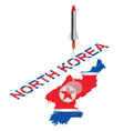 North Korea Missile Launch vector image