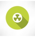 Radioactive icon vector image