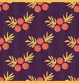 seamless autumn pattern with berries and vector image vector image