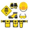 set of construction equipment vector image
