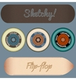 skateboard design elements vector image
