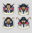 sketch set british men vector image vector image