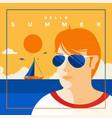 summer background flat design summer time 7 vector image vector image