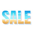 summer sale time vector image vector image