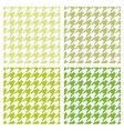 Tile green houndstooth background set vector image vector image