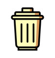 trash icon isolated on white background from vector image vector image