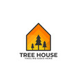 tree house template vector image vector image