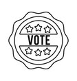 vote word in lace usa elections line style icon vector image vector image