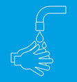 washing hands icon outline style vector image vector image