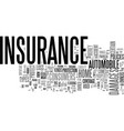 why is insurance important text word cloud concept vector image vector image
