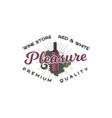 wine shop logo template concept wine bottle vine vector image vector image