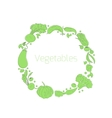 Wreath vegetables circle vector image vector image