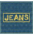 jeans grunge background design template vector image