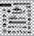 logistics export icon set vector image