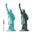 the statue of liberty in vector image