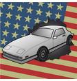 american car vector image