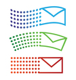 Email flying icons vector image