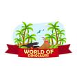 poster world of dinosaurs prehistoric world t vector image
