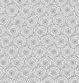 monochrome circles seamless texture vector image