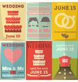 Wedding Posters Set vector image