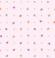 80s seamless pattern with triangle and vector image vector image