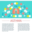 Asthma poster with place for text vector image