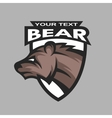 Bear symbol logo vector image vector image
