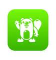 beaver icon green vector image