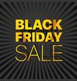 black friday sale logo black friday sale banner vector image vector image